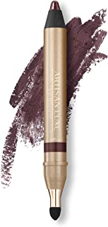 Velvet Eyeliner Pencil by Artisan L'uxe Beauty | Water-Resistant & Smudge Proof | Professional Eye Makeup | Cruelty-Free | Shimmering Bronze Eye Pencil | Shameless (Deep Plum)