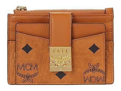 MCM Patricia Visetos Card Case Mini (Cognac) Handbags