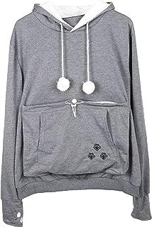 Pet Pouch Fashion Hoodies Pullover Cat Dog Holder Carrier Sweatshirt