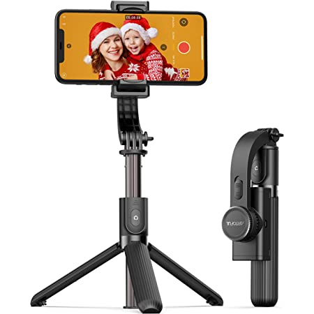 ARTOFUL Gimbal Stabilizer for Smartphone Selfie Stick Tripod with Wireless Remote Control 360° Rotation Auto Balance Stabilizer Portable Phone Stand for iPhone & Android Phones