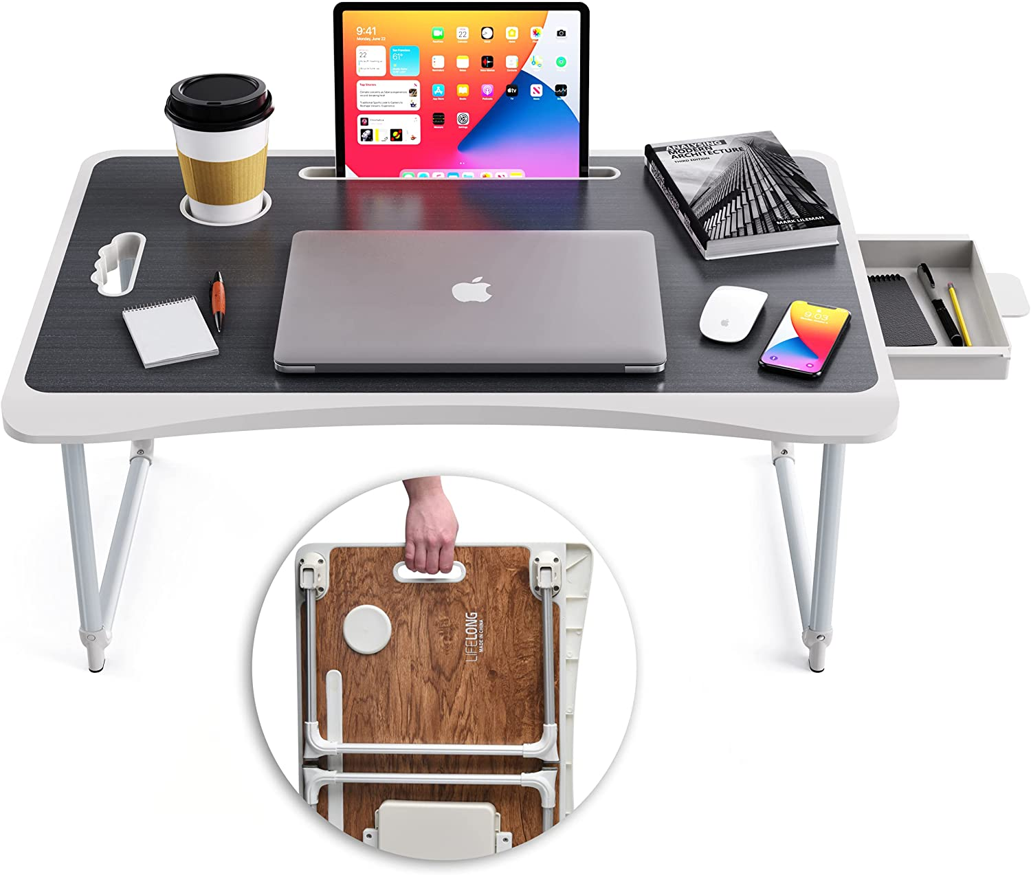 Foldable Max 66% OFF Laptop Table for Writing Desk and favorite Bed