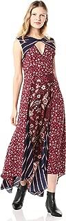 BCBGMAXAZRIA Women's Mixed Print Asymmetric Dress