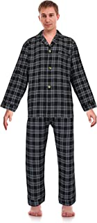 Classical Sleepwear Men's 100% Cotton Flannel Pajama Set,
