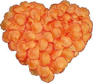 DALAMODA 1000 pcs Silk Rose Petals Artificial Flower Wedding Party Aisle Decor Tabl Scatters Confett (Orange #1)