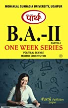 Modern Constitution B.A. Part - II Paper - I by Parth Publishers