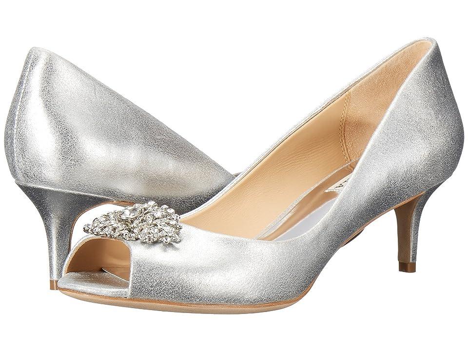 Badgley Mischka Layla (Silver Metallic Suede) High Heels