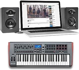 Novation IMPULSE 49-Key USB MIDI Keyboard Controller+Samson Monitor Speakers