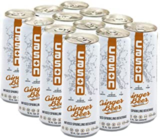 CASON Beverage | Ginger Beer | Naturally Flavored Sparkling Water Drink | Healthy Alternative to Pop, Soda, and Juice | Keto-Friendly, Gluten-Free, Sugar-Free, Vegan, Low Calorie, Diabetic, 12 Pack