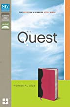 NIV, Quest Study Bible, Personal Size, Leathersoft, Gray/Pink: The Question and Answer Bible