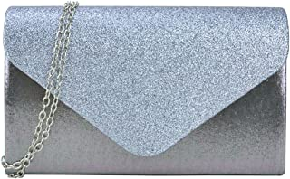 Dasein Women's Clutch Purses Evening Bags Envelope Frosted Handbag Party Prom Wedding Clutch