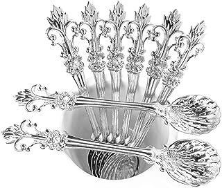 Mini Spoons Set of 8 by Movalyfe Kitchen - Coffee Espresso Demitasse Vintage Spoon 4.5