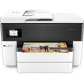 HP OfficeJet Pro 7740 Stampante Multifunzione a Getto di Inchiostro per Grandi Formati A3, Scanner e Fotocopiatrice, Fax, Wi-Fi, Ethernet, USB, Bianco, A3, A3+ 7740