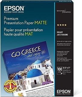 Epson Premium Presentation Paper MATTE (8.5x11 Inches, 100 Sheets) (S042180),Black