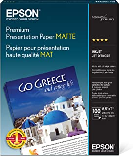 Epson Premium Presentation Paper MATTE (8.5x11 Inches, 100 Sheets) (S042180)