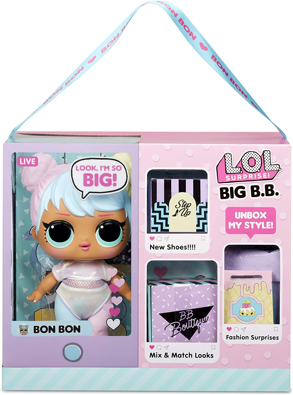 LOL Surprise Big BB Bon - 11 Inch Large Baby Doll with Multicolor