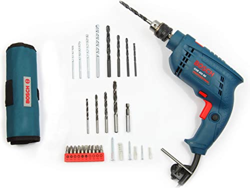 Bosch GSB 450-Watt Impact Drill Set (Blue, 100-Pieces)