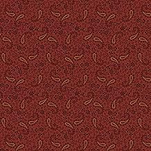 Marcus Fabrics Paula Barnes Companions Rust Paisley Flowers