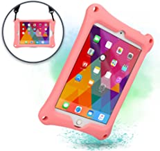 Cooper Bounce Strap Shoulder Strap Rugged Case for Apple iPad Mini 4 3 2 1   Multi-Functional Shock Proof Heavy Duty Cover with Stand, Shoulder and Hand Strap   Kids Adults (Pink)