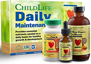 ChildLife Daily Maintenance Kit | Vitamin Supplement for Infants, Baby, Toddlers, Kids and Teens, Contains Liquid Multivit...
