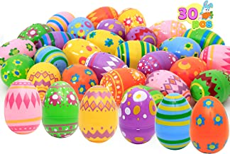 30 Pcs Printed Jumbo Plastic Eggs for Easter Egg Hunt Event, Easter Basket Stuffers, Party Favor Goodie Bags, Scene and Decoration, School Parties Prizes, School Classroom Rewards