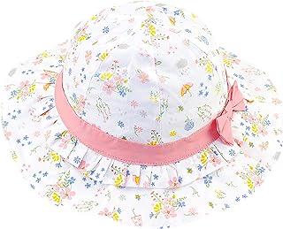 Sombrero para el Sol para Bebé Niñas Flores Motivo Primavera Verano Dulce y Encantador Protección UV Sombrero de Pescador ...