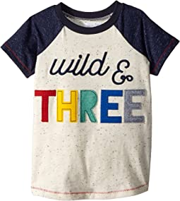 Wild and Three Short Sleeve Raglan Shirt (Toddler)