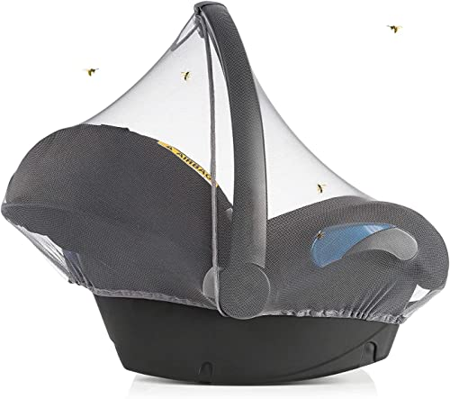 Zamboo - Moustiquaire Cosy Bebe Universelle, Filet Protection Insecte pour Siege Auto (ex. Bébé Confort, Cybex), Bord...