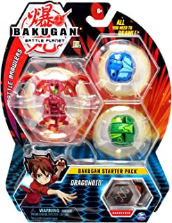 Bakugan Starter Pack 3-Pack, Dragonoid, Collectible Transforming Creatures, for Ages 6 and U