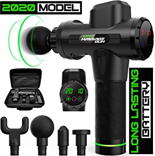 X-Fit Massage Gun For Athletes - Deep Tissue Relief - Handheld Percussion Electric Personal Muscle Gun - Quiet, 20 Speeds High-intensity Vibration - 10 Hour Quick Rechargeable Device -Neck, Back, Leg