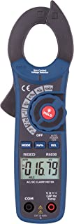REED Instruments R5030 True RMS AC/DC Clamp Meter with Temperature and Non-Contact Voltage Detector, 500A