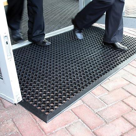 BiGDUG Large Outdoor Rubber Entrance Mats Anti Fatigue None Slip Drainage Door Mat Flooring Size 0.9 Metre x 1.5 Metre