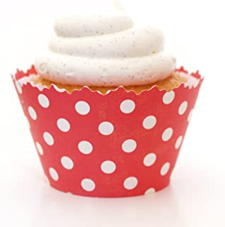 Simply Wrappers Polka Dots Cupcake Wrappers (Ruby Red)