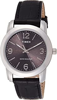 Timex Men's Quartz Watch, Analog Display and Leather Strap TW2R86600