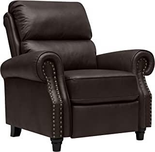 Domesis Cortez ? Leather Push Back Recliner Chair, Brown Leather
