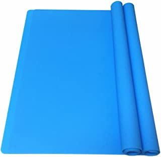 EPHome 2Pack Extra Large Multipurpose Silicone Nonstick Clay Mat, Heat Resistant Nonskid Counter Mat, Table Mat, 23.6``15.75`` (Blue)