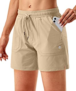 """G Gradual Women's 5"""" Hiking Cargo Shorts Quick Dry Athletic Shorts for Women with Pockets for Golf Workout Walking"""