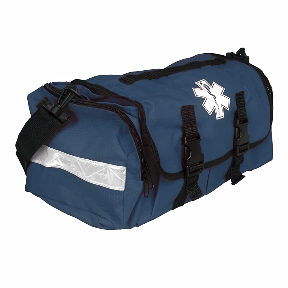 スクラブ大腿中断Dixigear First Responder On Call Trauma Bag W/Reflectors (Navy) by Dixie Ems
