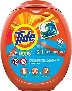 Tide PODS Laundry Detergent Liquid Pacs, Clean Breeze Scent, HE Compatible, 96 Count..