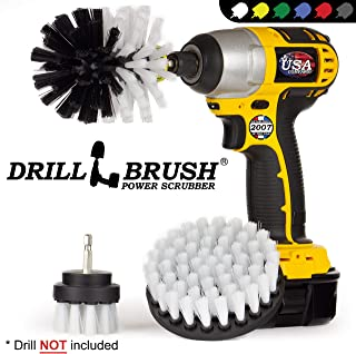 Drillbrush 3 Piece Drill Brush Cleaning Tool Attachment Kit for Scrubbing/Cleaning Furniture, Carpet, Chairs, Shower Door Glass, and Leather – Drill Brush Wheel Cleaner Kit