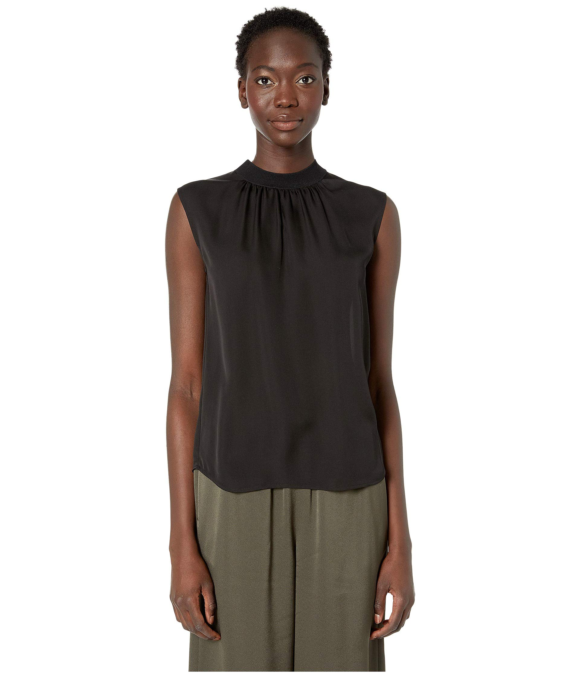 8f14044690ebcd Vince Rib Trim Shell Blouse at Luxury.Zappos.com