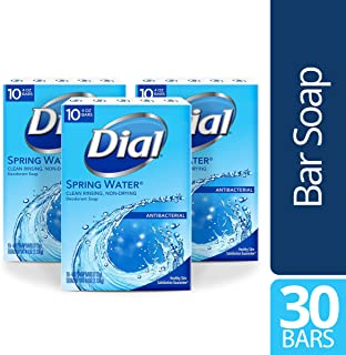 Dial Antibacterial Bar Soap, Spring Water, 30 Count