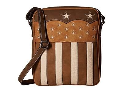 M&F Western Lady Liberty Conceal Carry Messenger (Brown) Messenger Bags