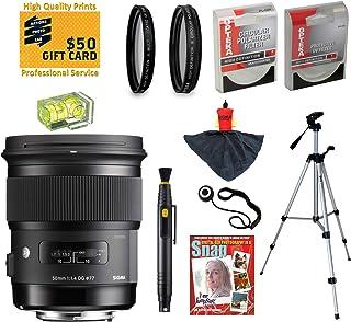 シグマ50mm f1. 4DG HSM Artレンズwith UV、CPL、FLD、nd4、+ 10マクロフィルターとバンドルfor Nikon d4s , d4, d3X , DF , d810, d800, d750, d610, d600, d7100, d7000, d5300, d5200, d5100, d3300, d3200and d3100デジタル一眼レフカメラ