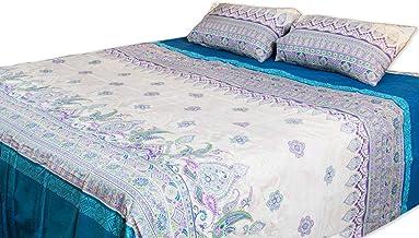 Home Comfort Imprint Luxurious Premium Quality 3 Piece Flat Bed Seet Set King