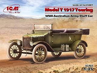 ICM 1/35 Scale Model T 1917 Touring - WWI Australian Army Staff Car Model Building Kit #35667
