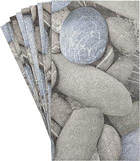 "Decorative Paper Hand Towels Fingertip Towels Disposable Beach Bathroom Decor Stones 8.5""x4.5"" Pk 32"