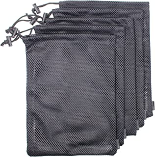 Erlvery DaMain 5 PCS Multi Purpose Nylon Mesh Drawstring Storage Ditty Bags for Travel & Outdoor Activity