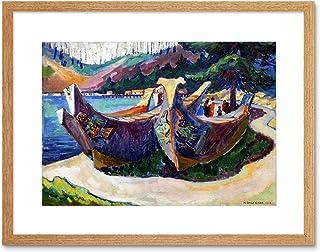 Painting Carr First Nation War Canoes Alert Bay Framed Art Print