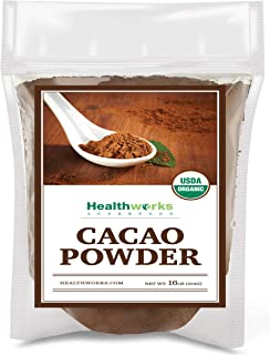 Healthworks Cacao Powder (16 Ounces / 1 Pound) | Cocoa Chocolate Substitute | Certified Organic | Sugar-Free, Keto, Vegan ...