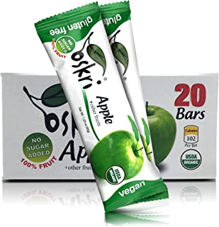 Oskri Organic Fruit Bars (20 Pack Apple)